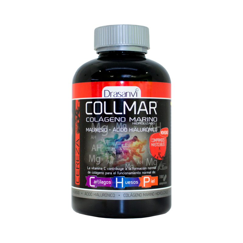 Colágeno Marino Masticable Sabor Cereza Collmar Drasanvi 180 Comprimidos